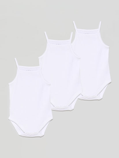 Pack of 3 basic strappy bodysuits