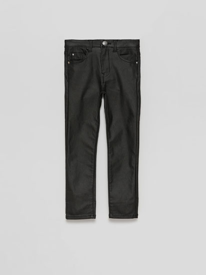 Waxed trousers