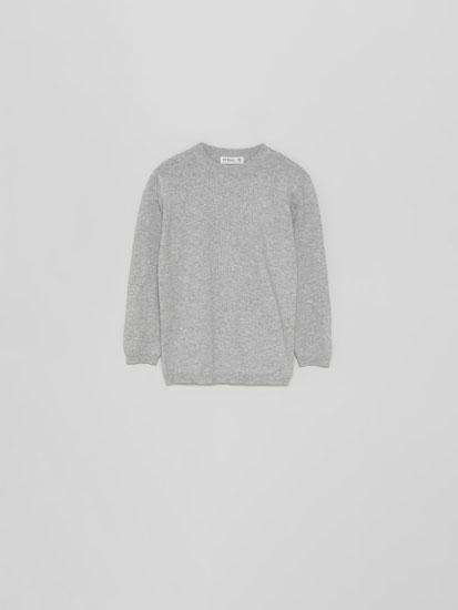 Sweater básica de decote redondo