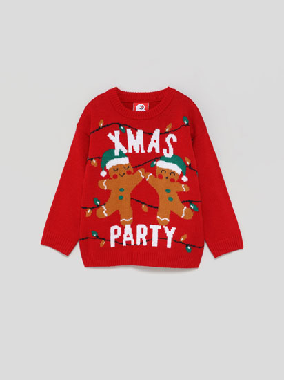 Christmas sweater with ginger biscuits