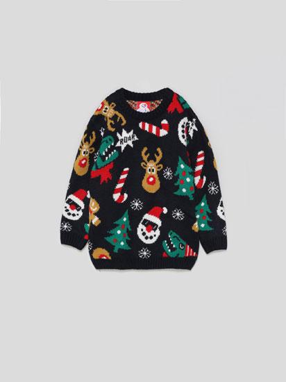 Sweater de Natal com música e luzes