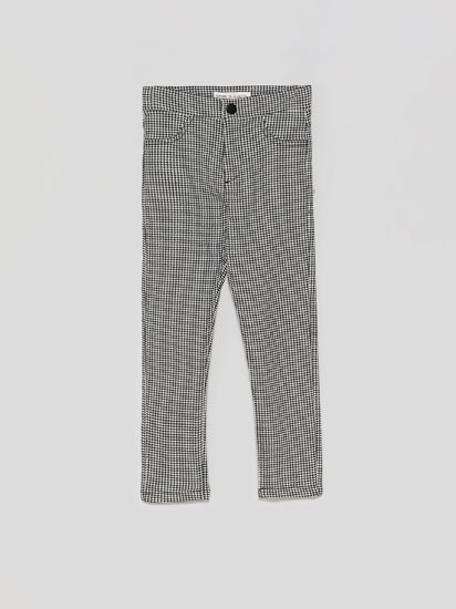 Check print stretch trousers