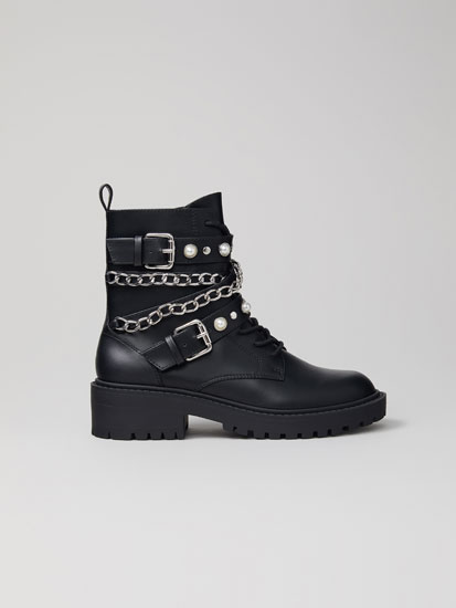 Biker ankle boots