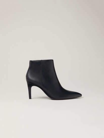 High-heel ankle boots with pointed toe