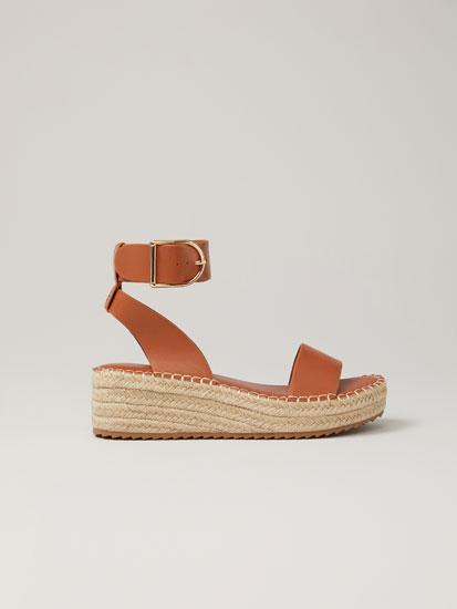 Jute platform sandals