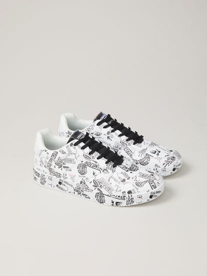 Printed casual sneakers