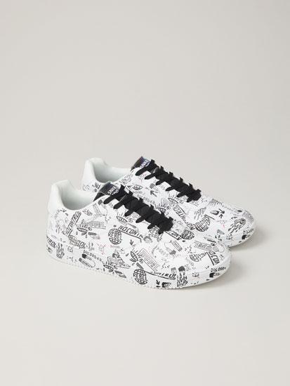 Printed casual sneakers