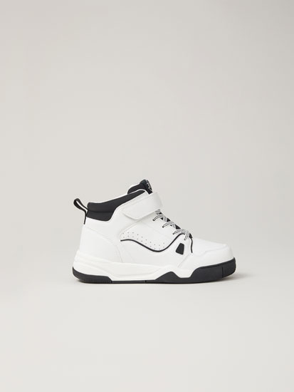 Black and white basketball shoes