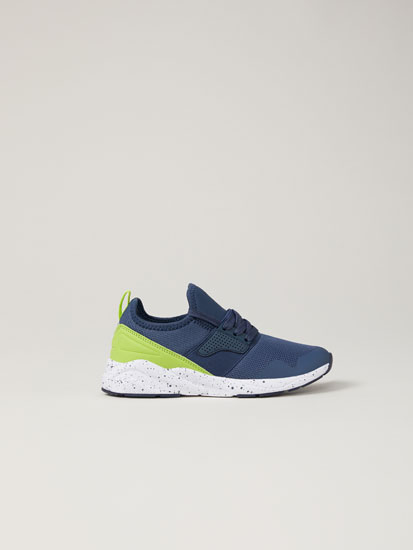 Sock-style sneakers with neon detail