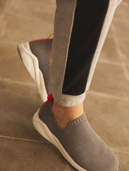 Sapatilhas estilo meia