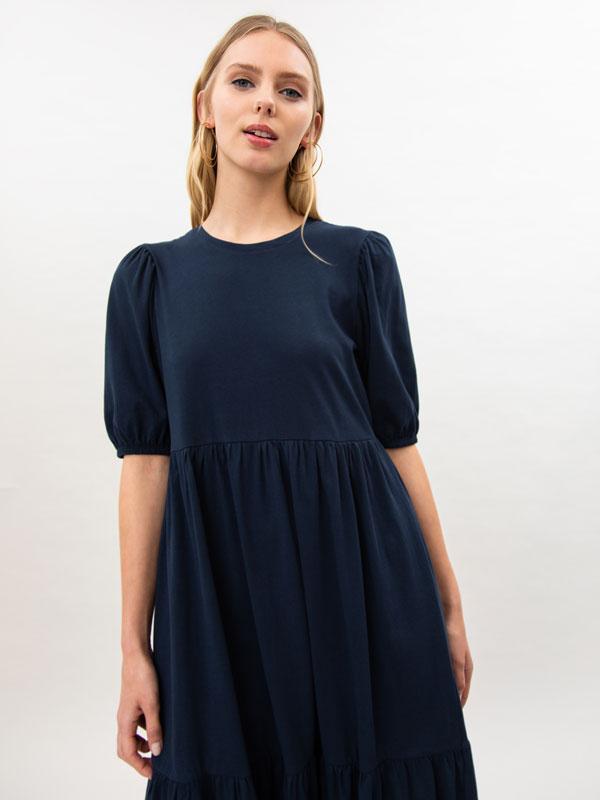 Short sleeve midi dress