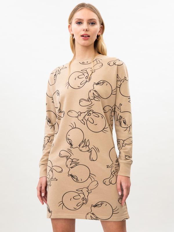 Tweety © &™ WARNER BROS print dress