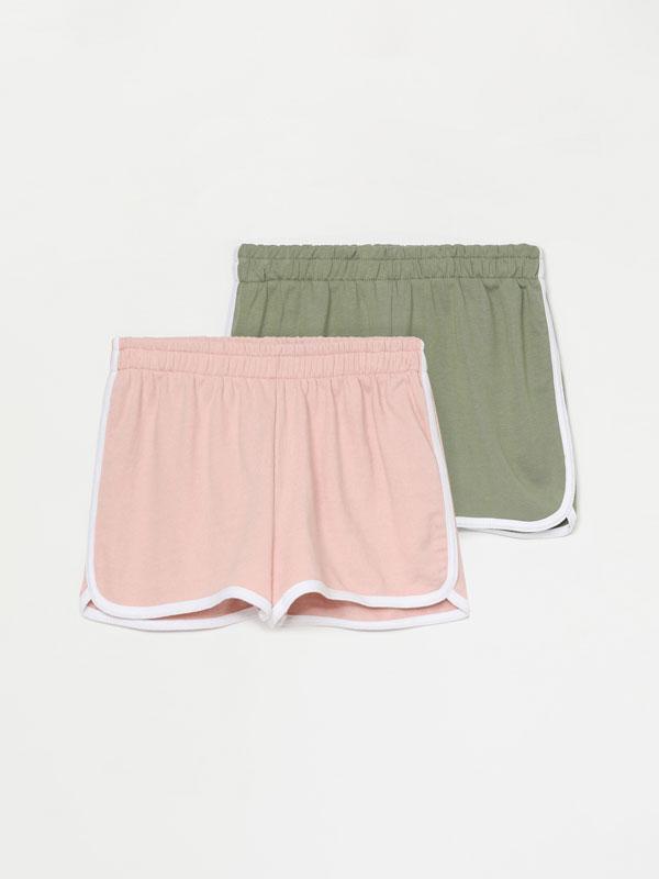 Pack de 2 pantalons curts bàsics de pelfa con rivet