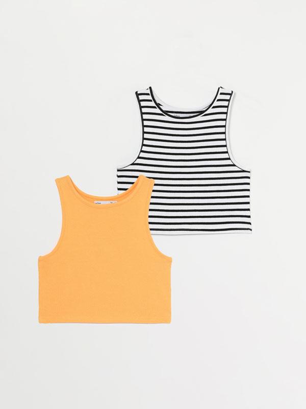 Pack de 2 camisetas crop