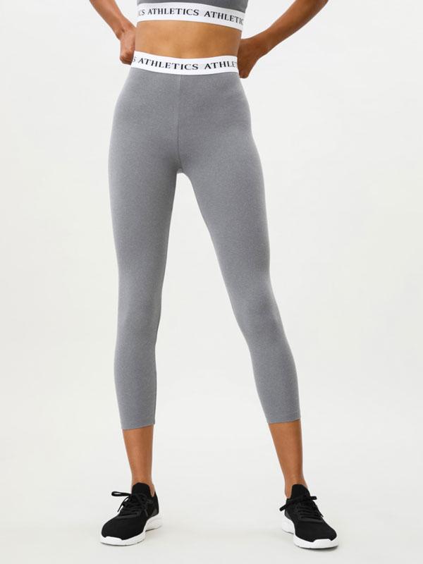 Sports leggings with slogan detail