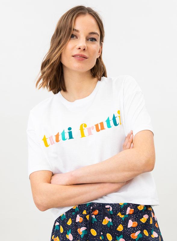 Short printed pyjama set