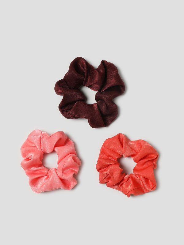 Pack of 3 satin scrunchies