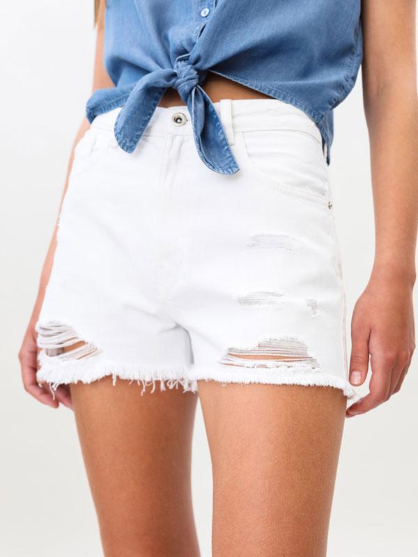 Ripped mom shorts