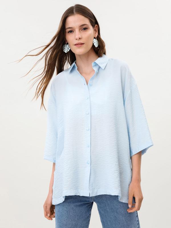 Camisa oversize de manga corta