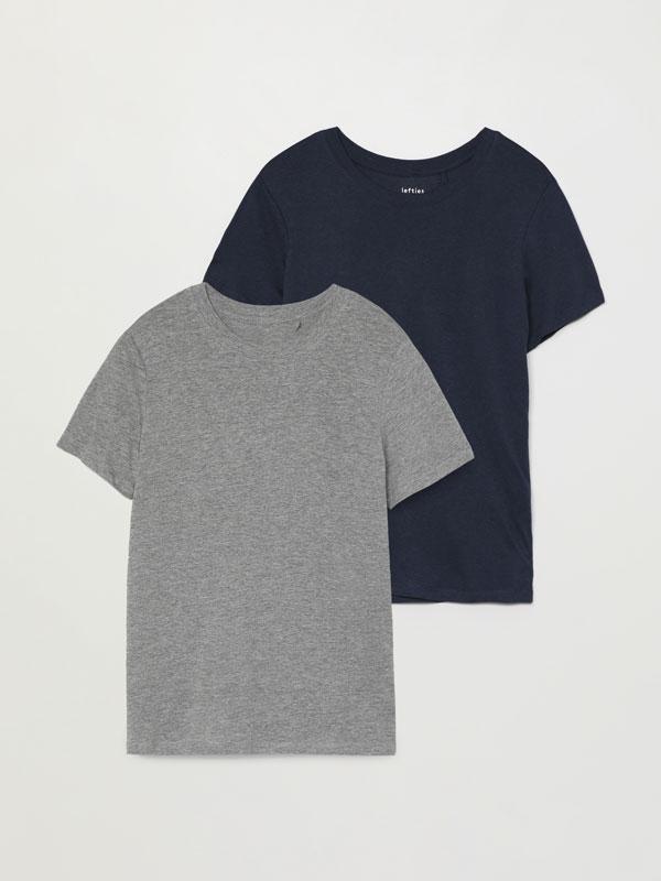 Pack of 2 basic round neck T-shirts