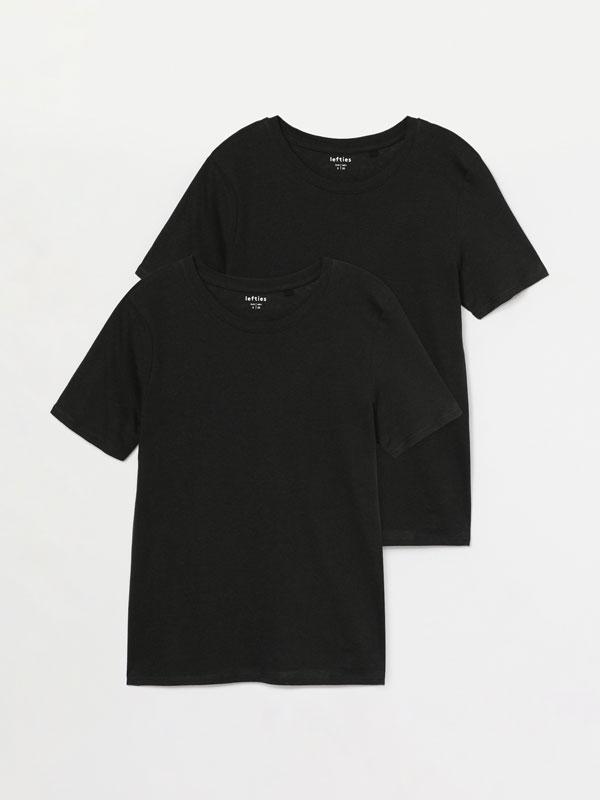 Pack de 2 camisetas básicas de colo redondo