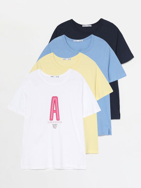 Paquet de 4 samarretes estampades