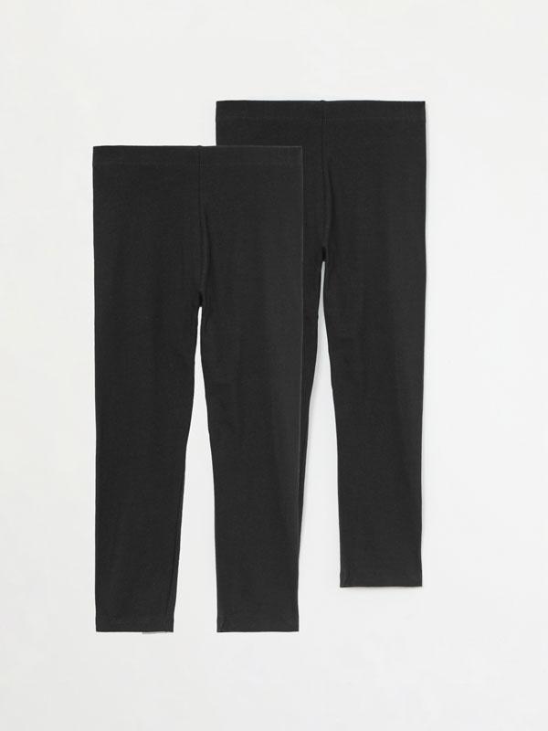 Paquet de 2 leggings curts bàsics