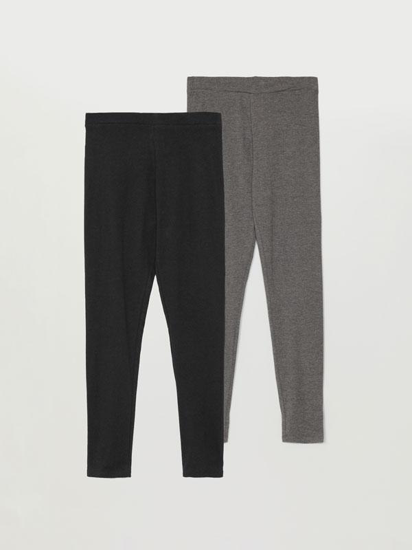 Pack 2 leggings longos