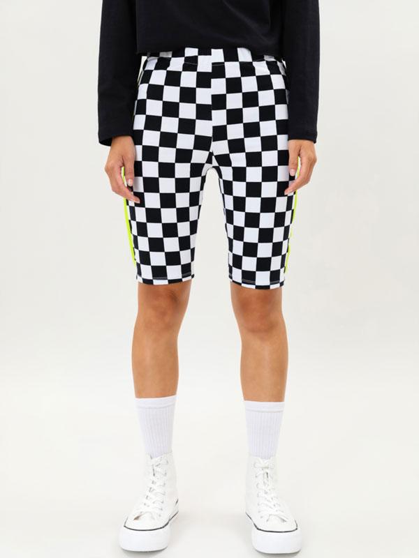 MTV check cycling leggings