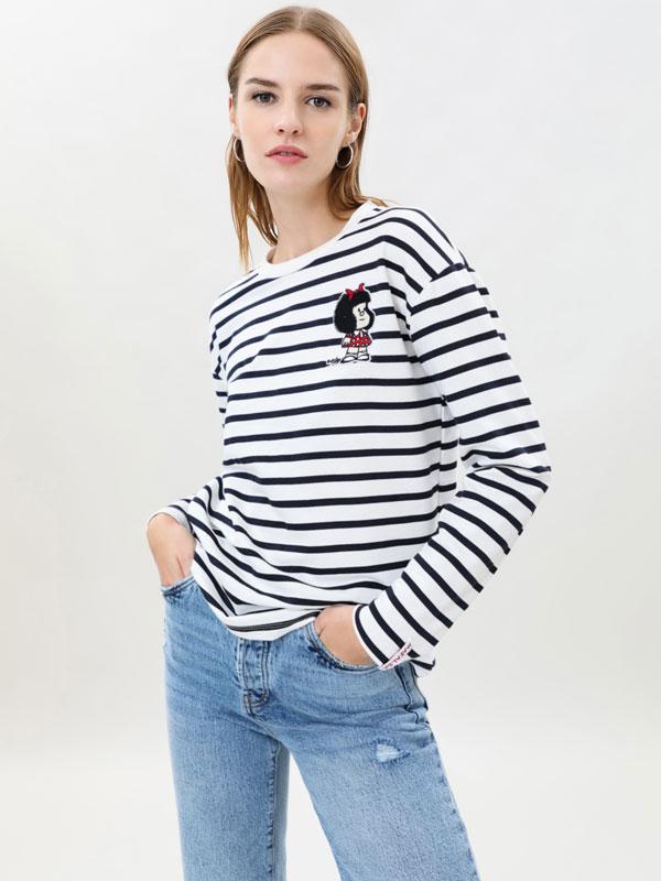 Mafalda striped sweatshirt