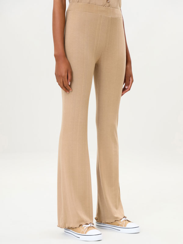 Ribbed knit trousers
