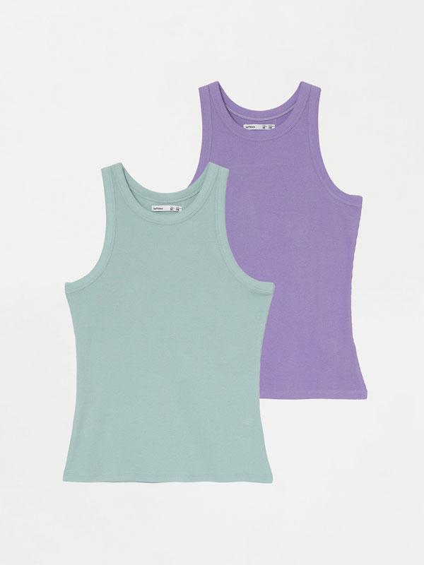 Paquet de 2 samarretes sense mànigues