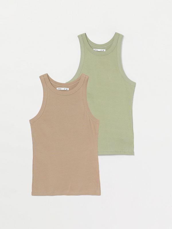 Pack of 2 of sleeveless tops