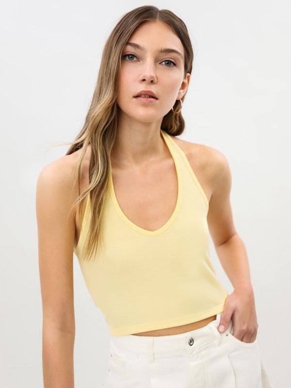 Camiseta cuello halter