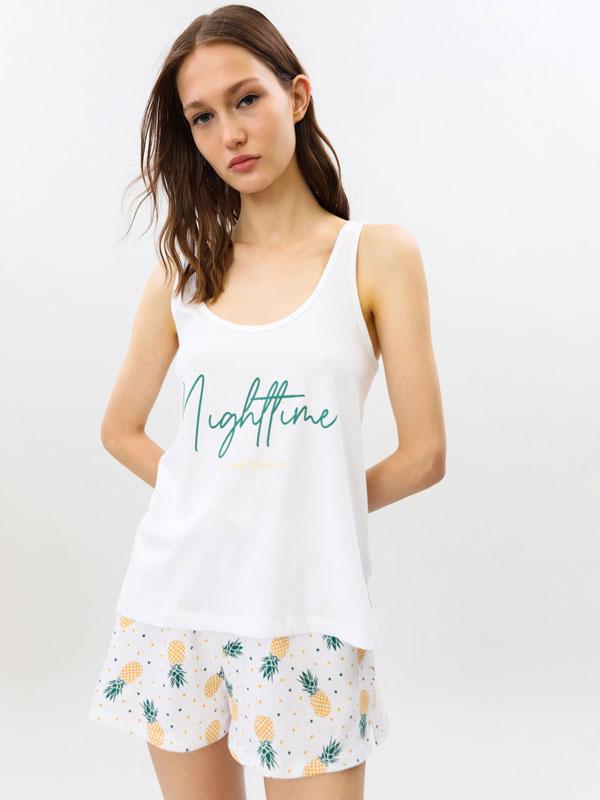Pijama konjunto motz estanpatua