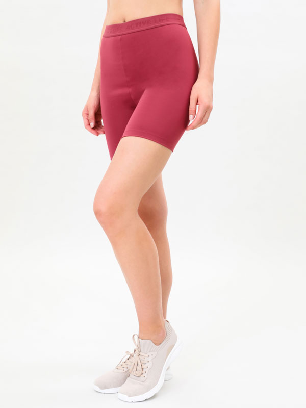 Cycling leggings with slogan