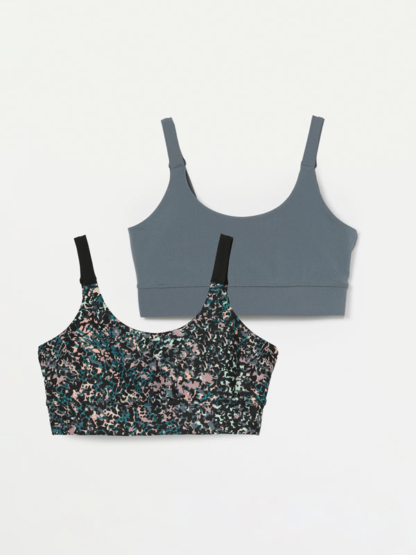 Pack of 2 sports bras