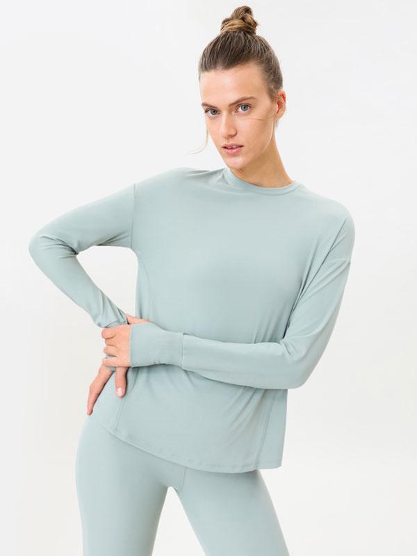 Sporty long sleeve T-shirt