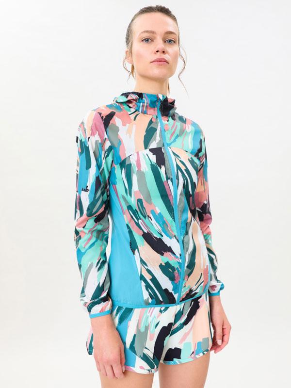 Printed windbreaker jacket