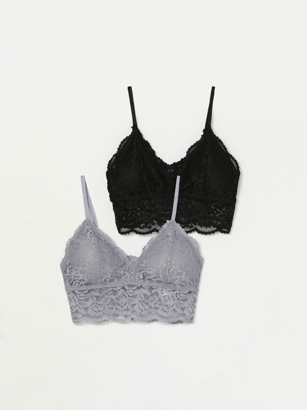 Pack of 2 lace bras