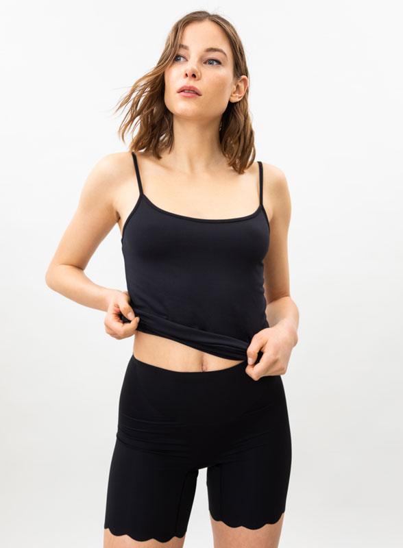 Calções shapewear de microfibra