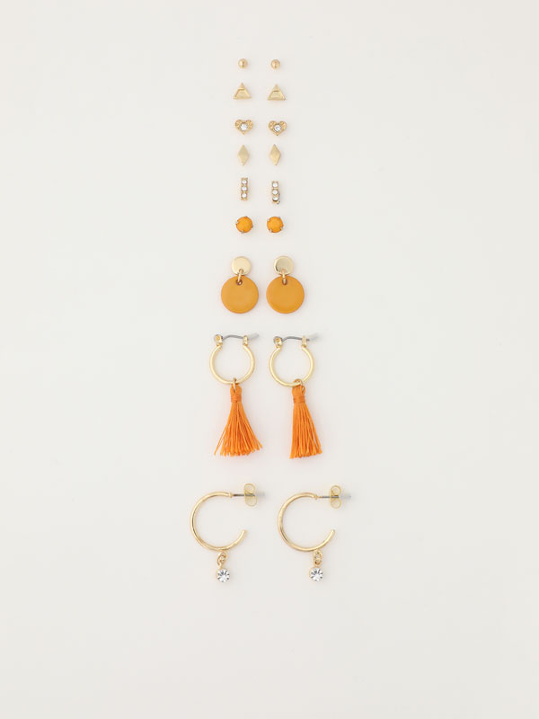 9-Pack of assorted earrings