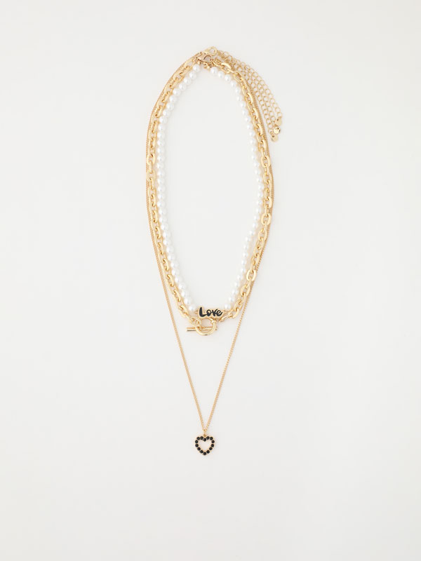 3-pack of love necklaces.