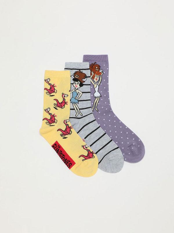 Pack of 3 pairs of The Flintstones © &™ WARNER BROS socks
