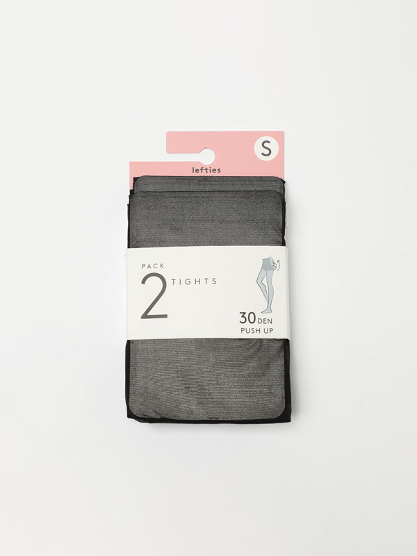 2-pack of push-up effect tights
