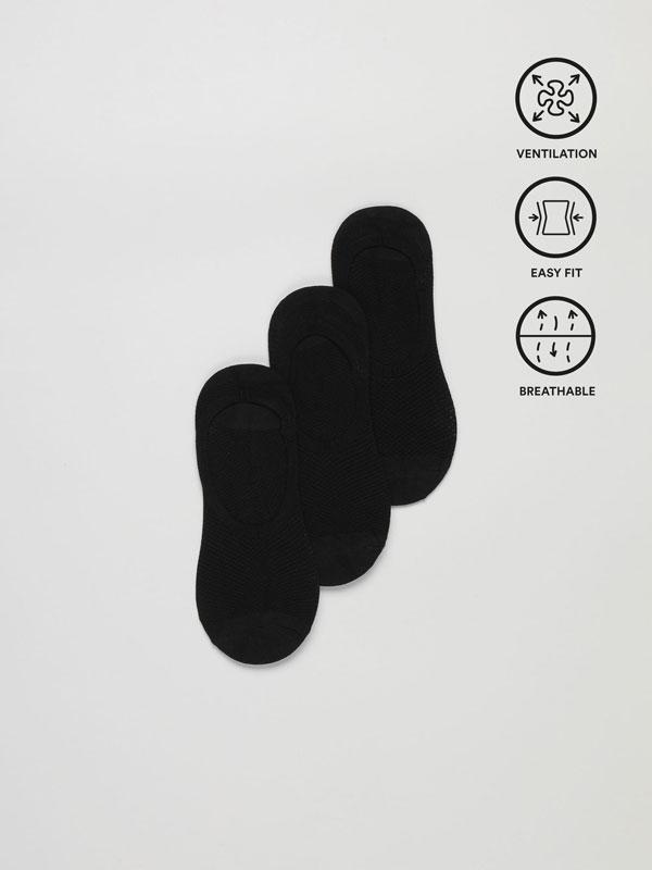 Pack de 3 pares de calcetíns deportivos tipo invisibles