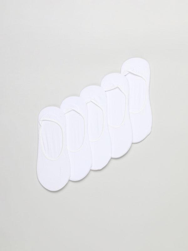 Pack 5 calcetíns tipo invisibles básicos