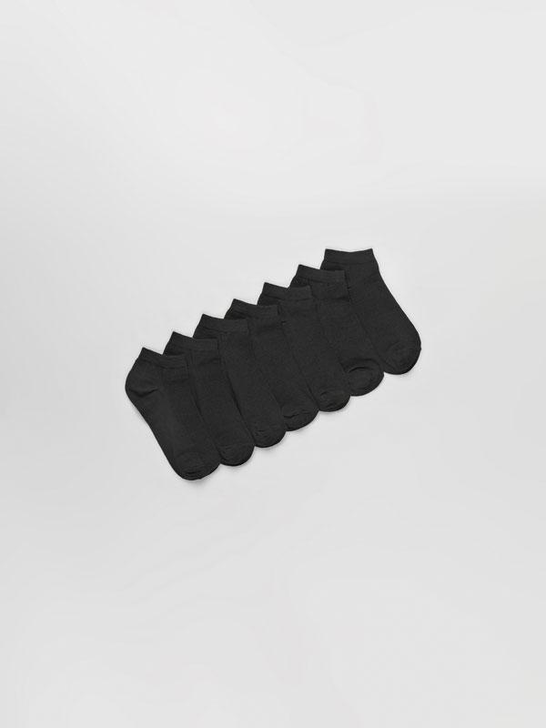 Pack de 7 pares de calcetíns curtos básicos