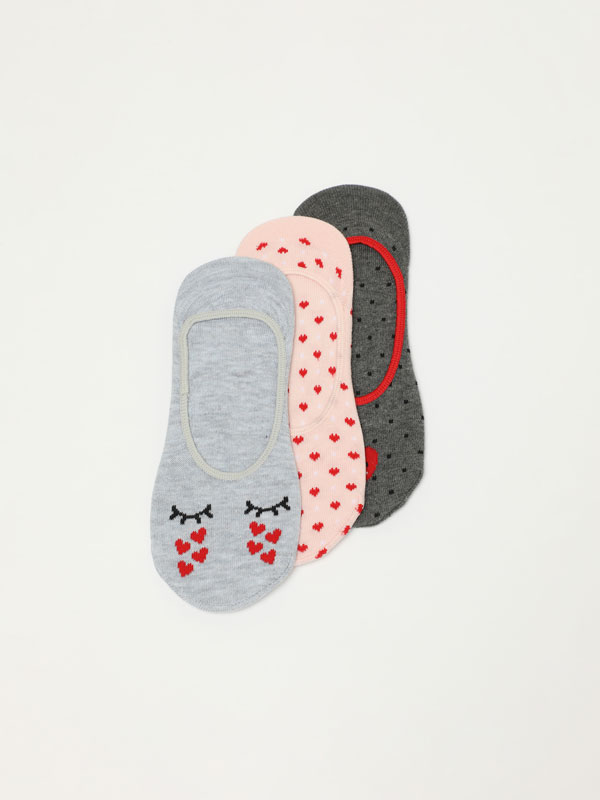 Pack of 3 pairs of assorted socks