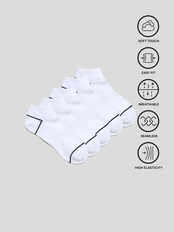 Pack de 5 pares de calcetines deportivos